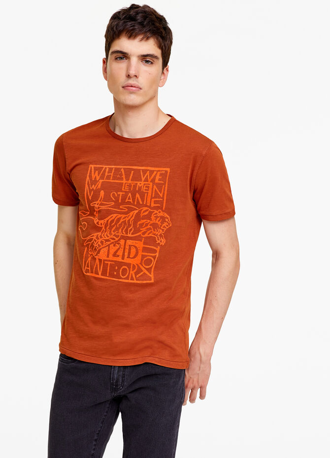 Solid colour T-shirt in 100% cotton