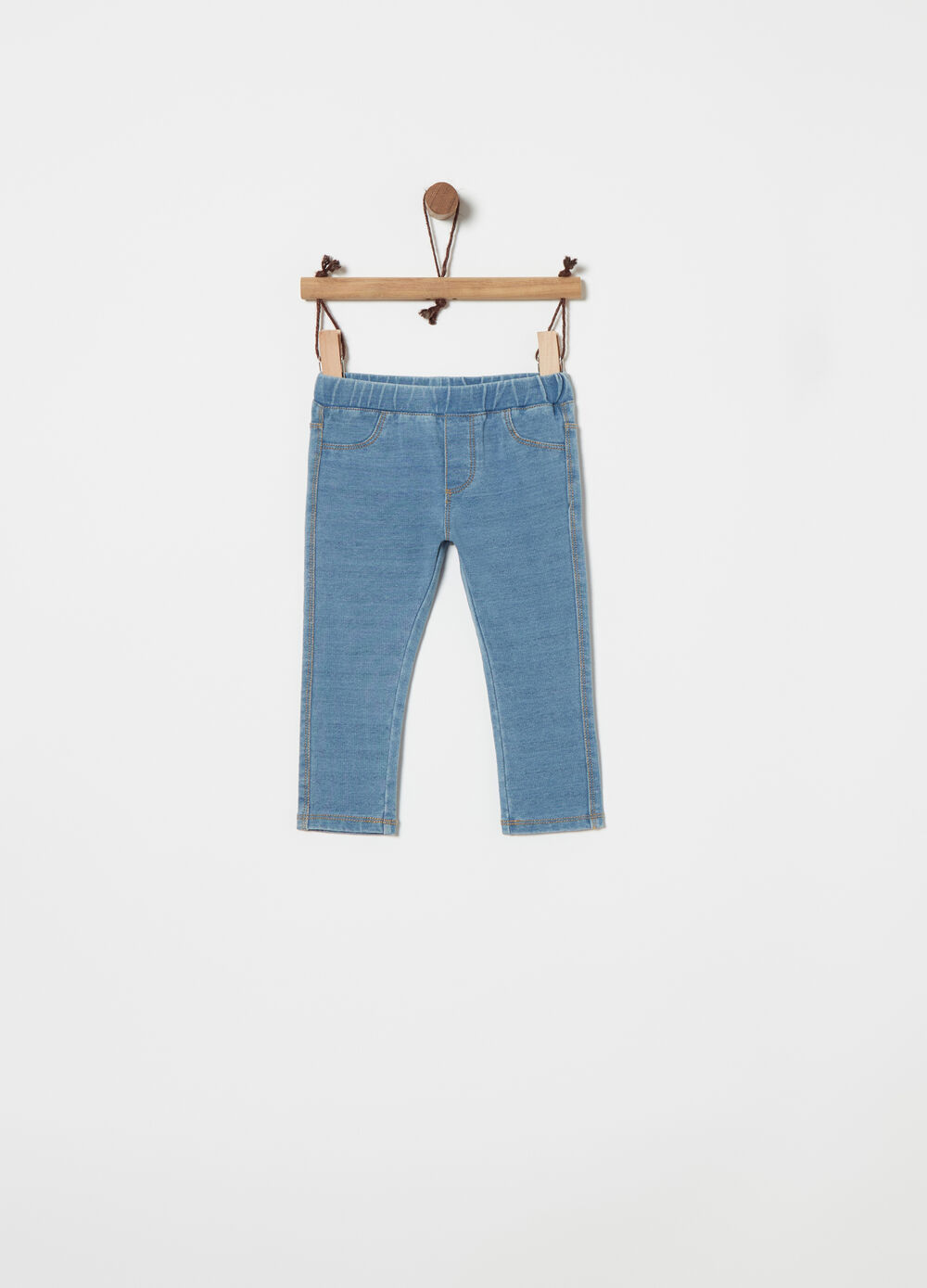 Jeggings in stretch denim French Terry
