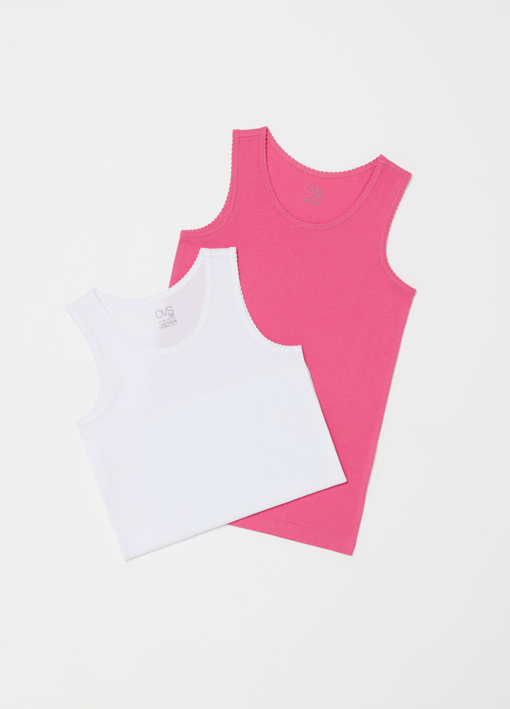 Two-pack vests with wide sleeves