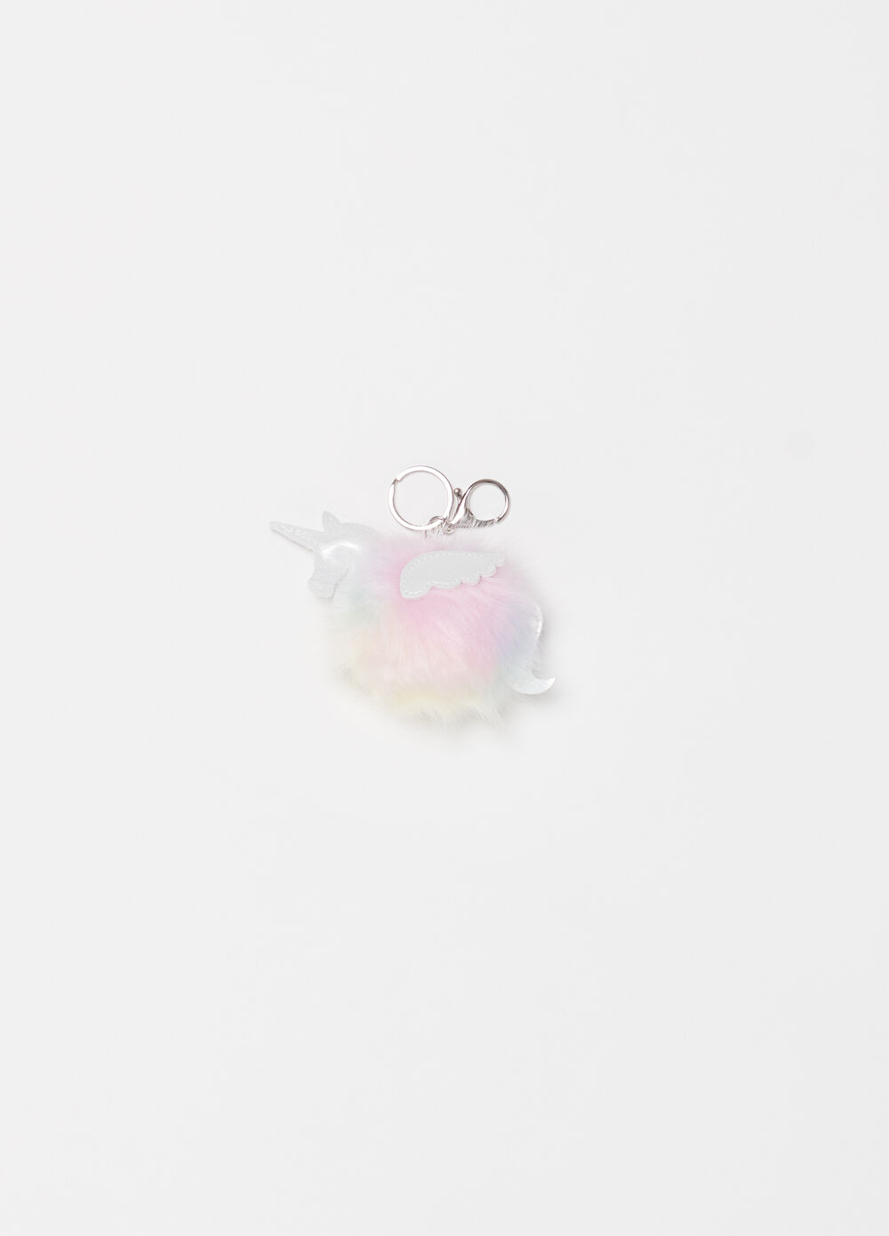 Unicorn keyring with pompom