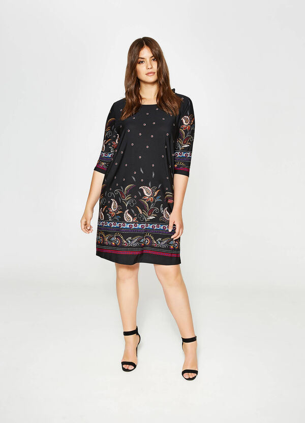 Curvy stretch dress with all-over print   OVS