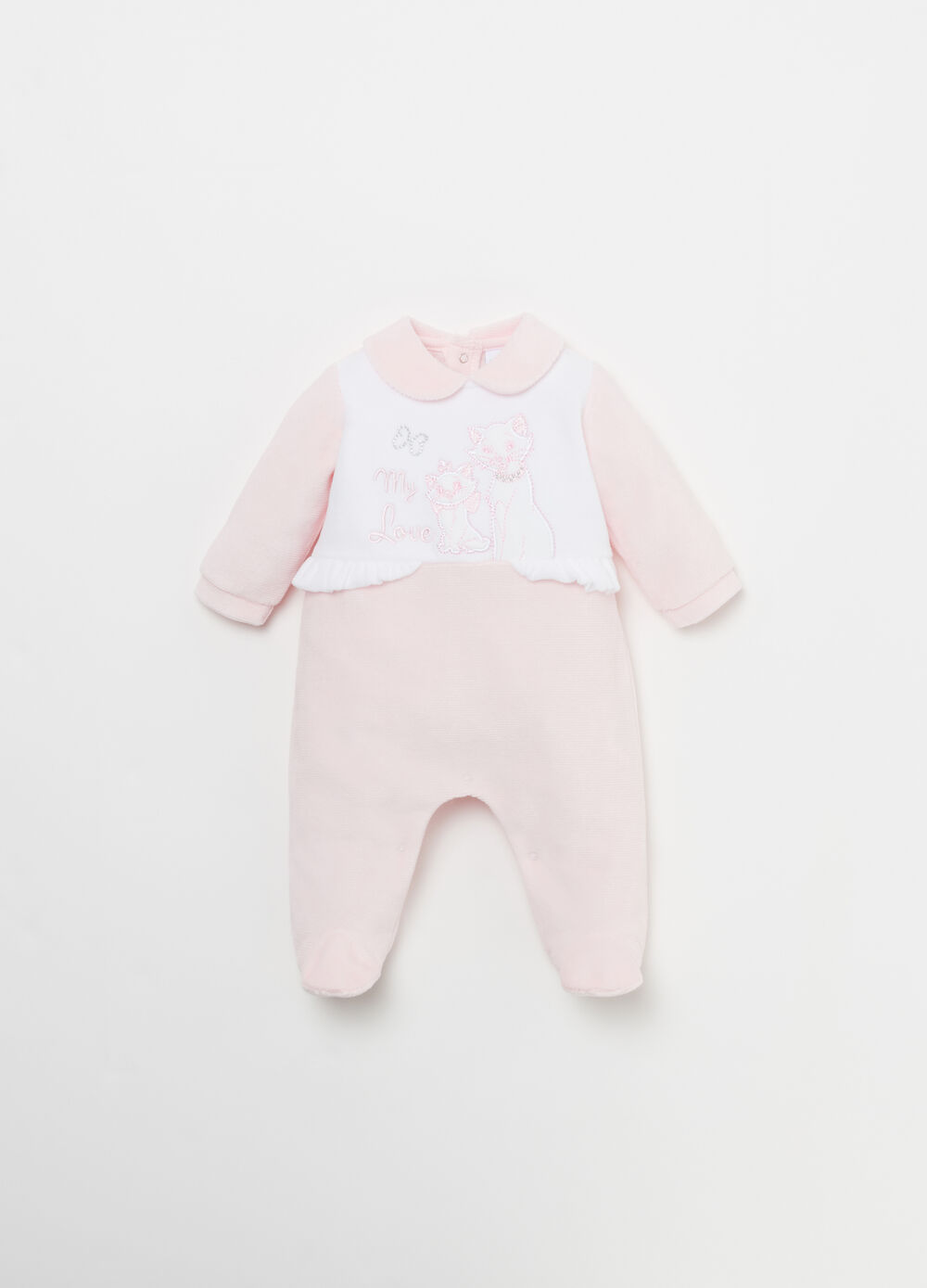 Velour Disney Baby onesie with flounce