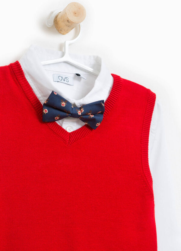 Shirt and waistcoat set with bow-tie | OVS