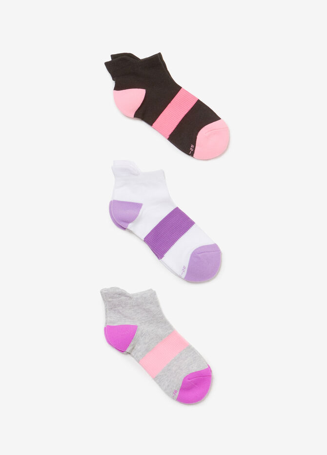 Three-pack short socks with insert