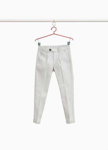 Stretch chino trousers with crease