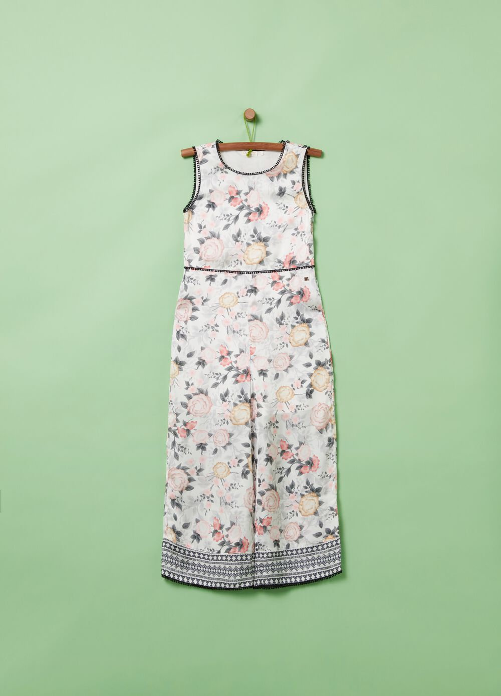 Playsuit with floral pattern