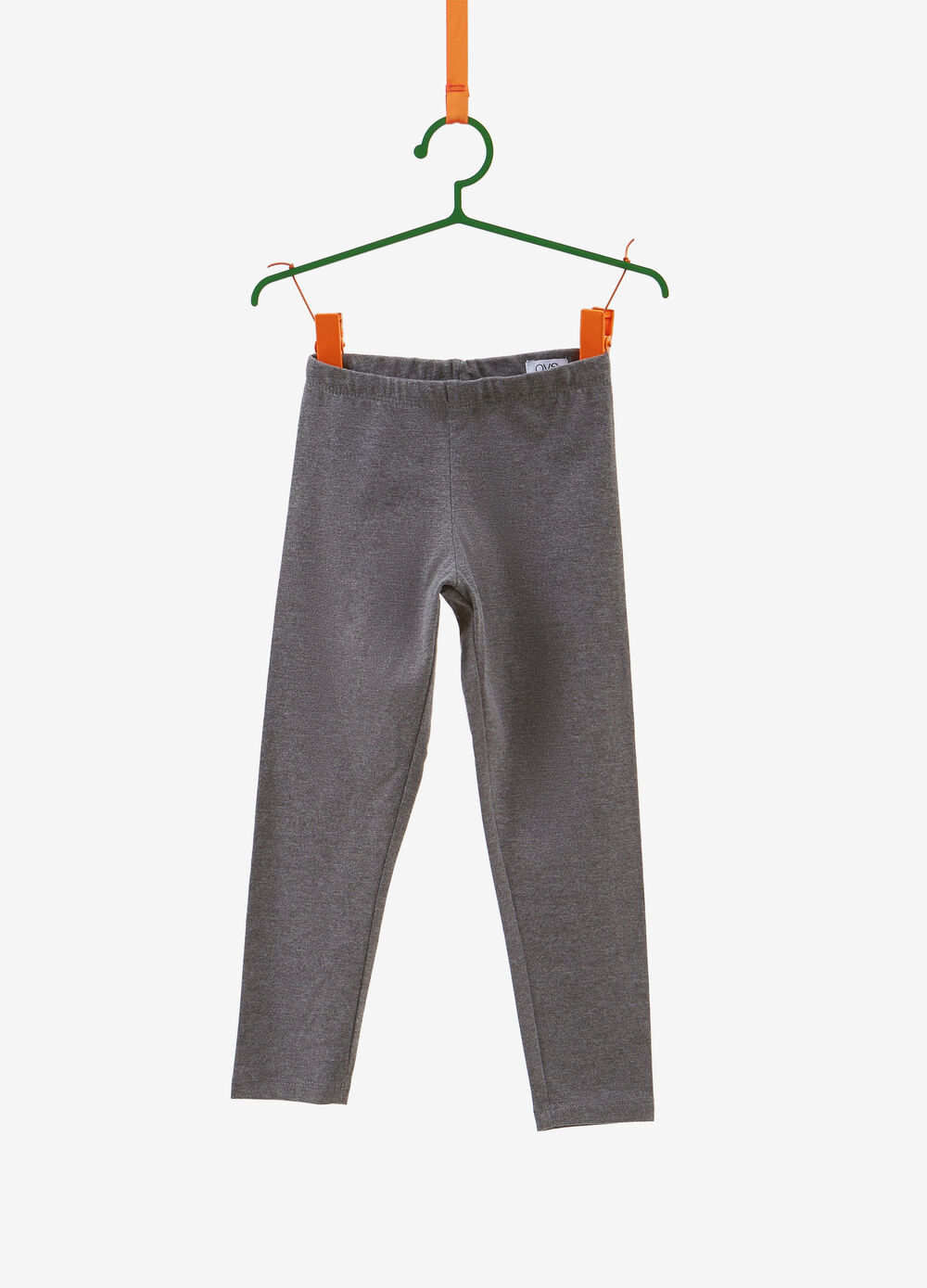 Solid colour trousers with elastic waist