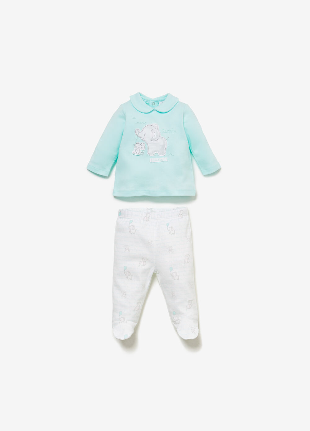 100% cotton outfit with patch and pattern