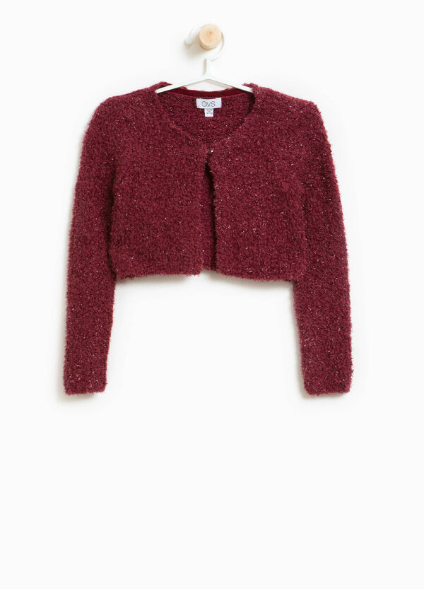 Knitted glitter cardigan in cotton blend | OVS