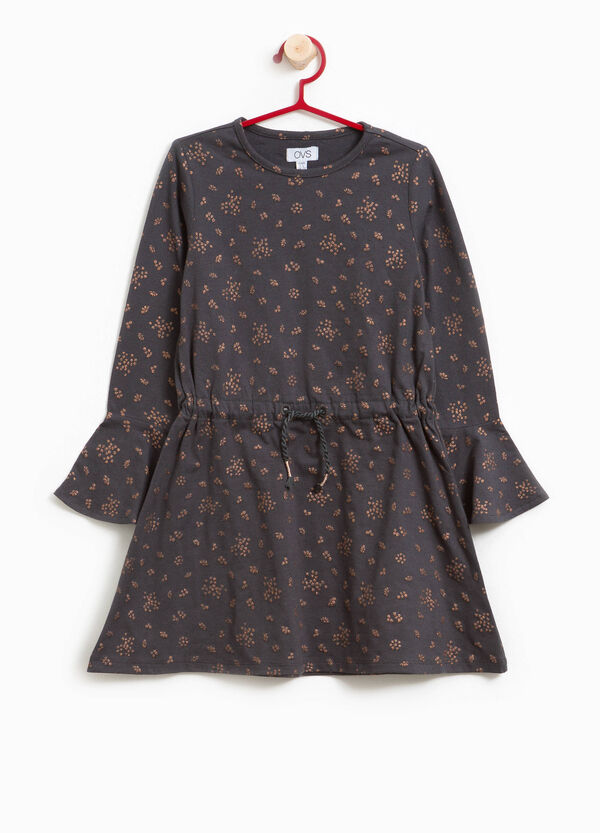 Stretch cotton floral dress | OVS