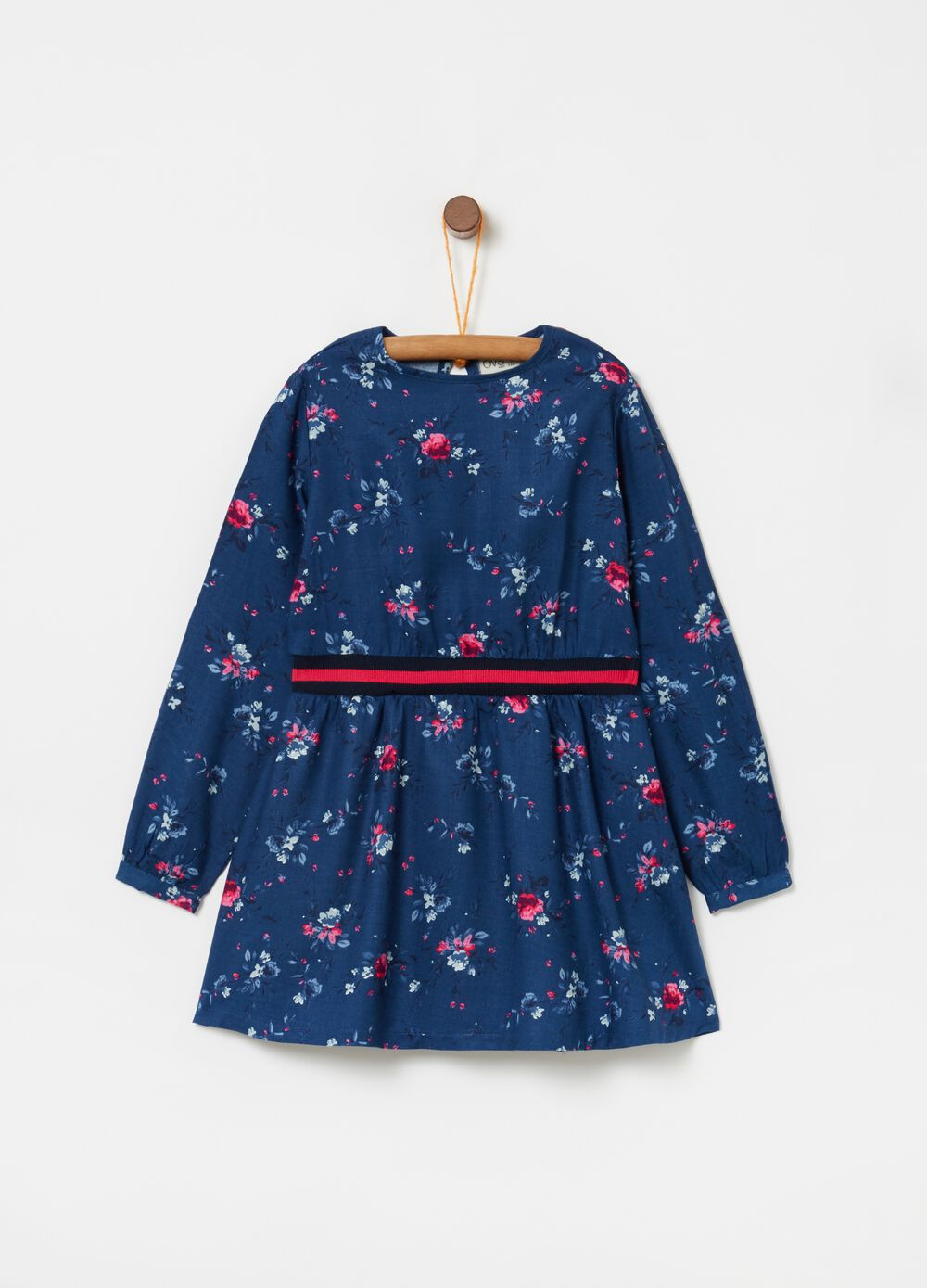 Dress with all-over floral print