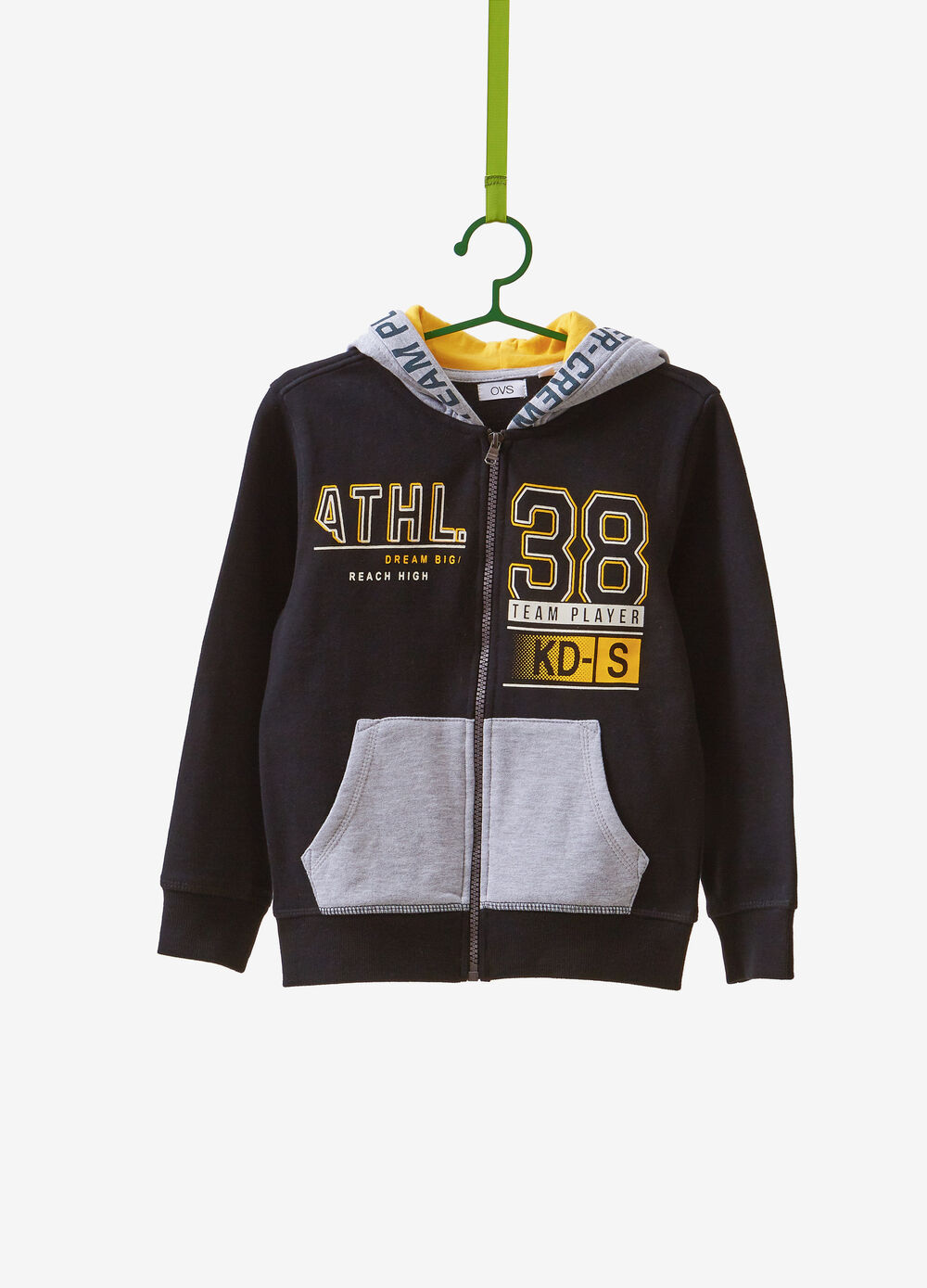 Cotton blend sweatshirt with lettering print