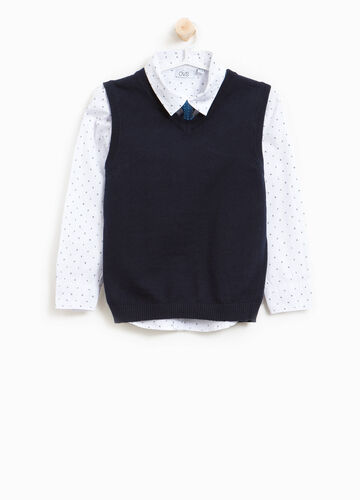 Shirt and waistcoat set with tie