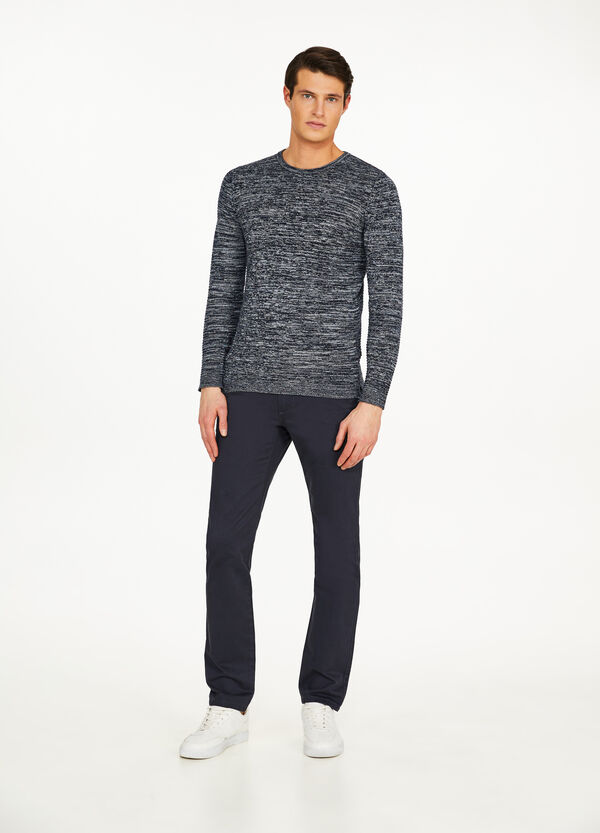 Cotton regular-fit chino trousers