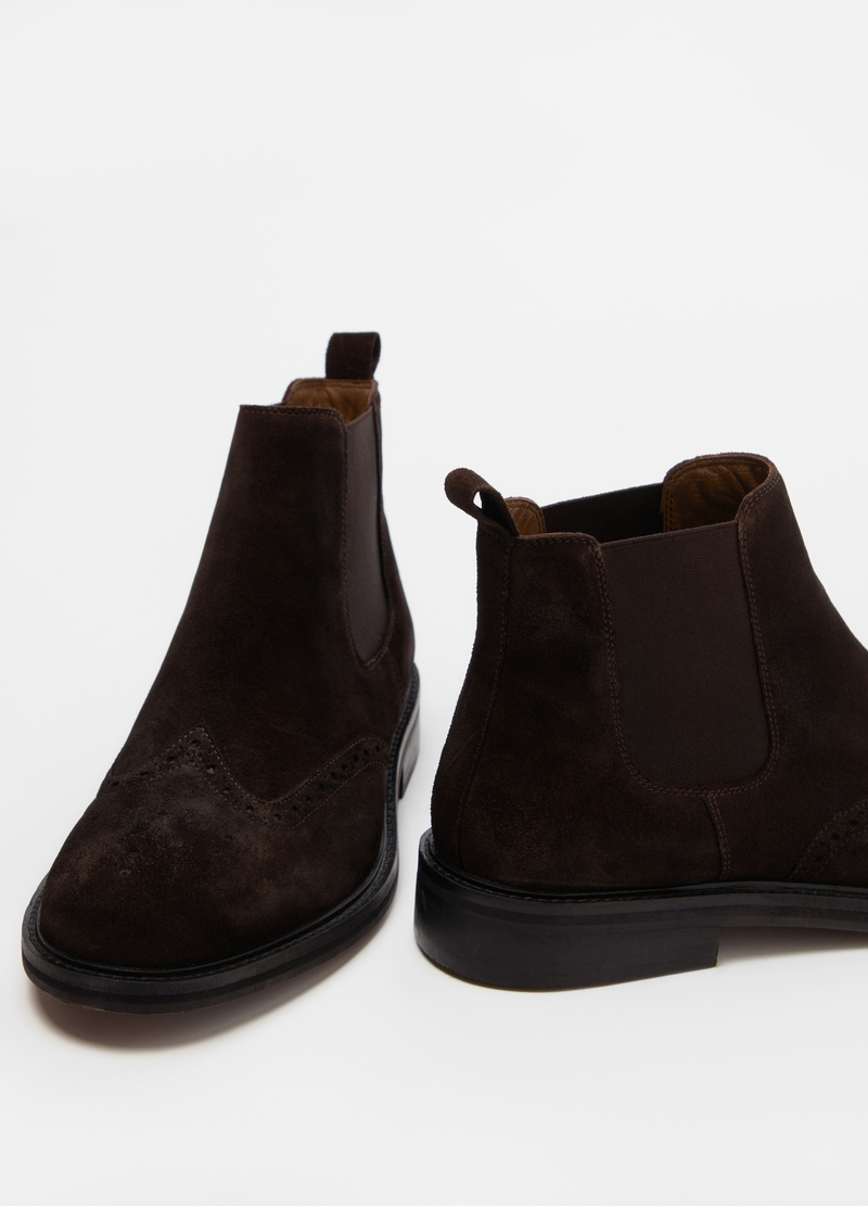 PIOMBO Chelsea ankle boots in suede image number null