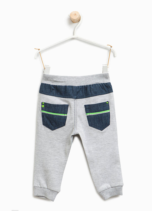 Joggers with faux jeans print | OVS