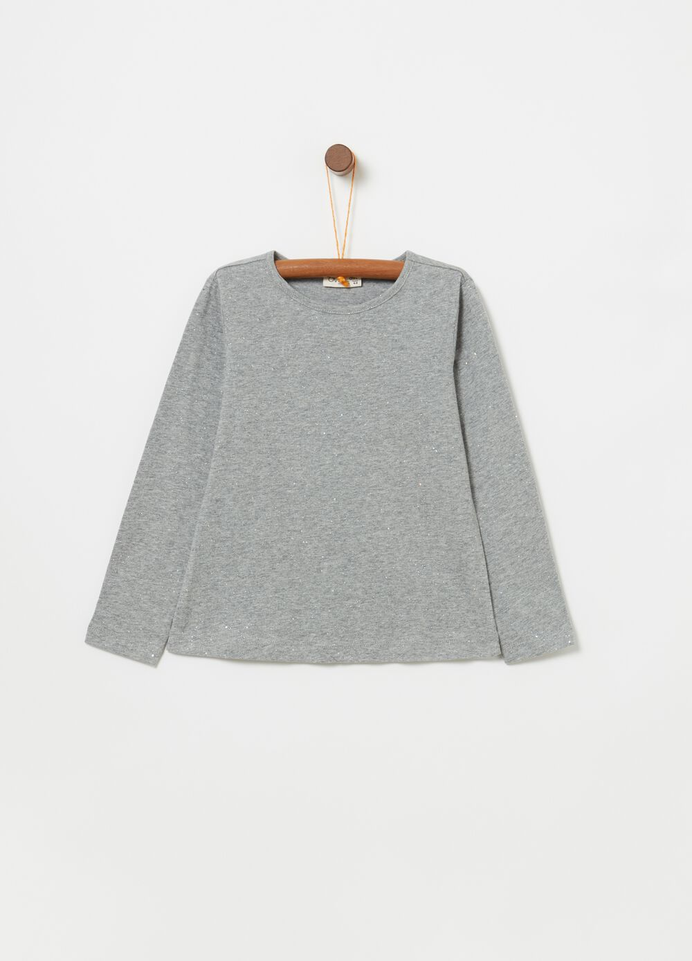 Mélange T-shirt with long sleeves