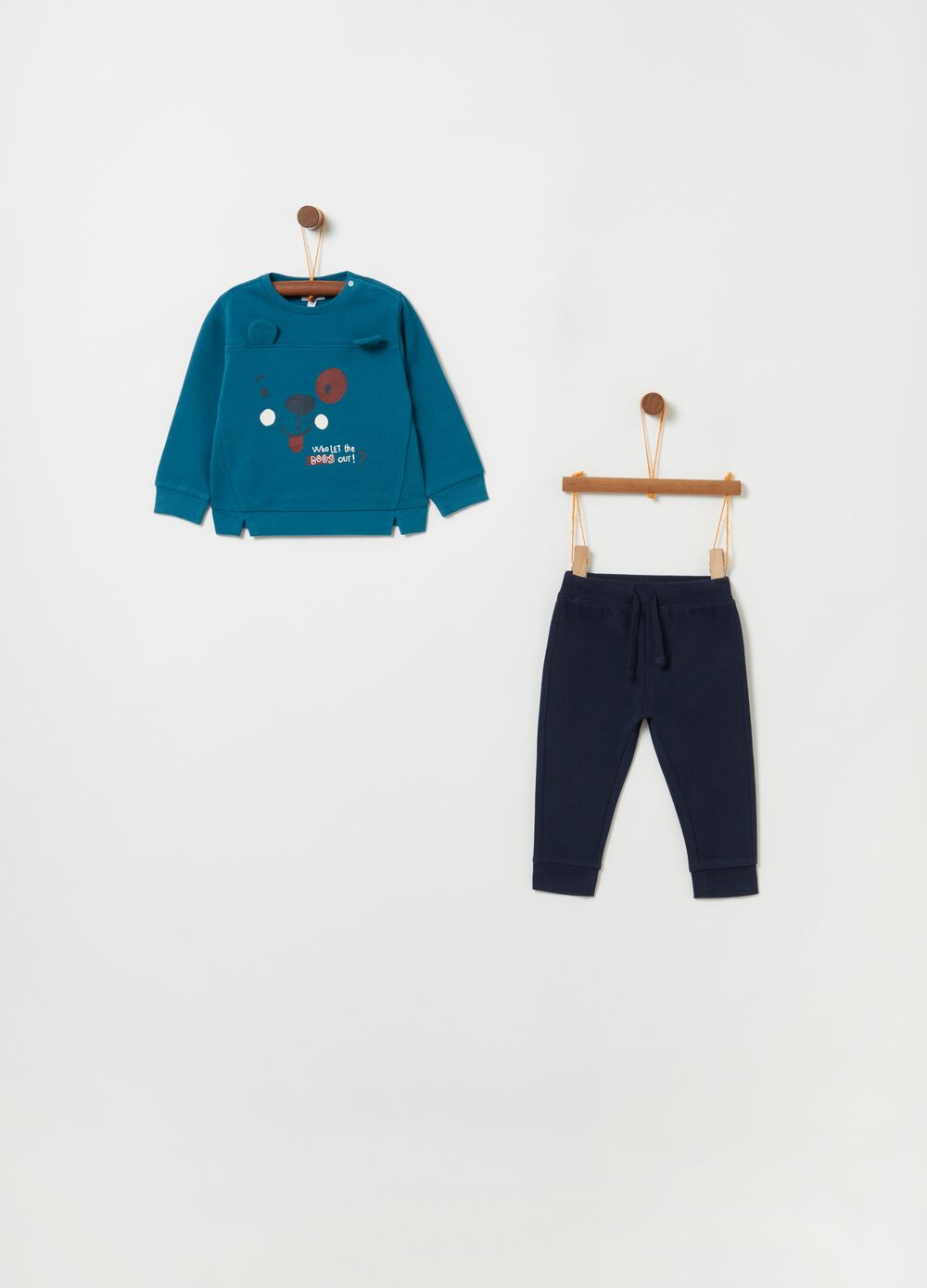 French terry jogging set with ears