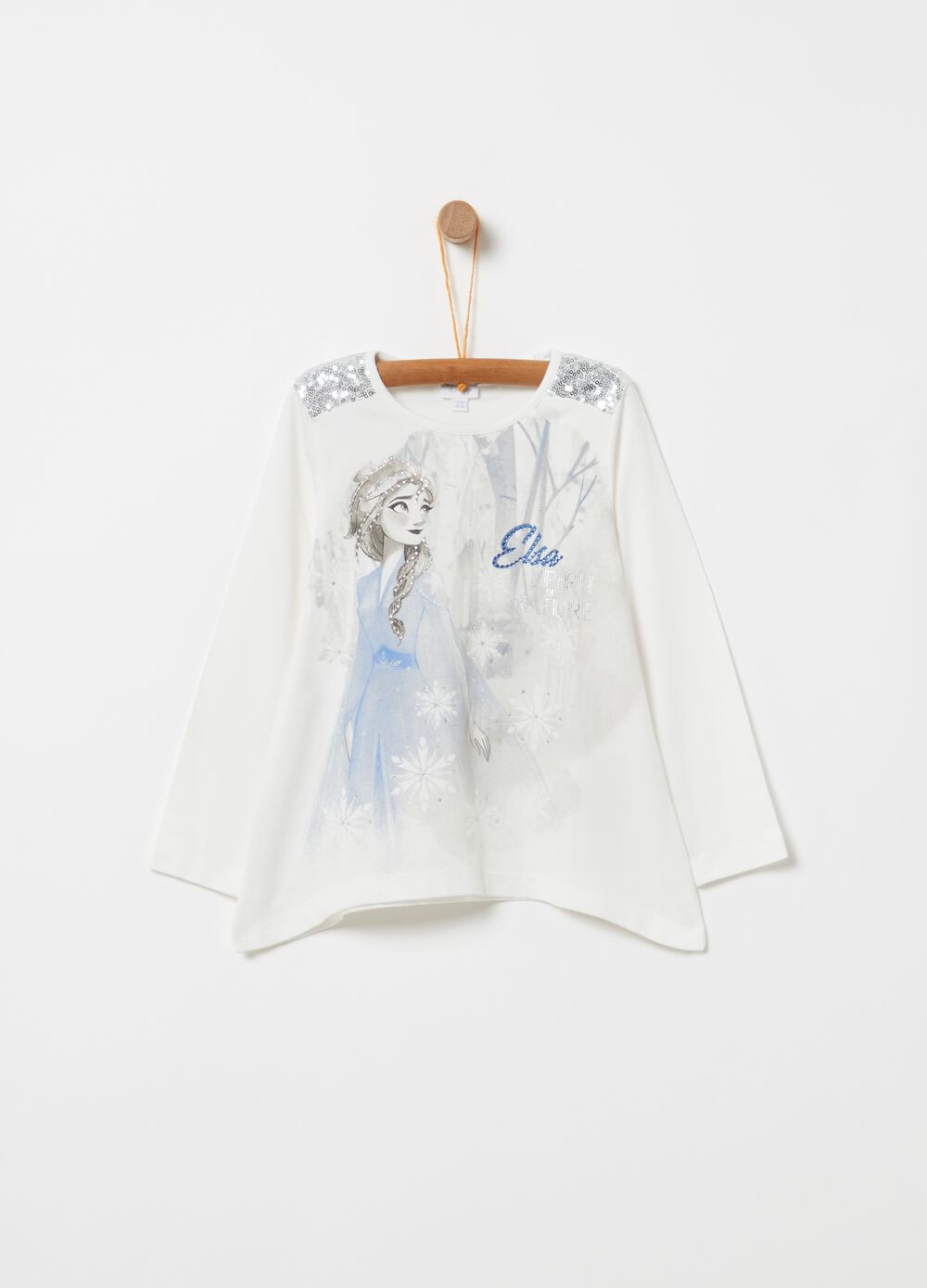 Disney Frozen T-shirt with sequins and diamantés