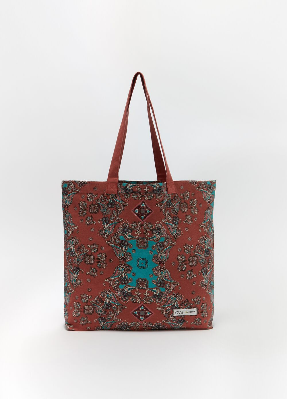 Shopping bag in 100% organic cotton with print