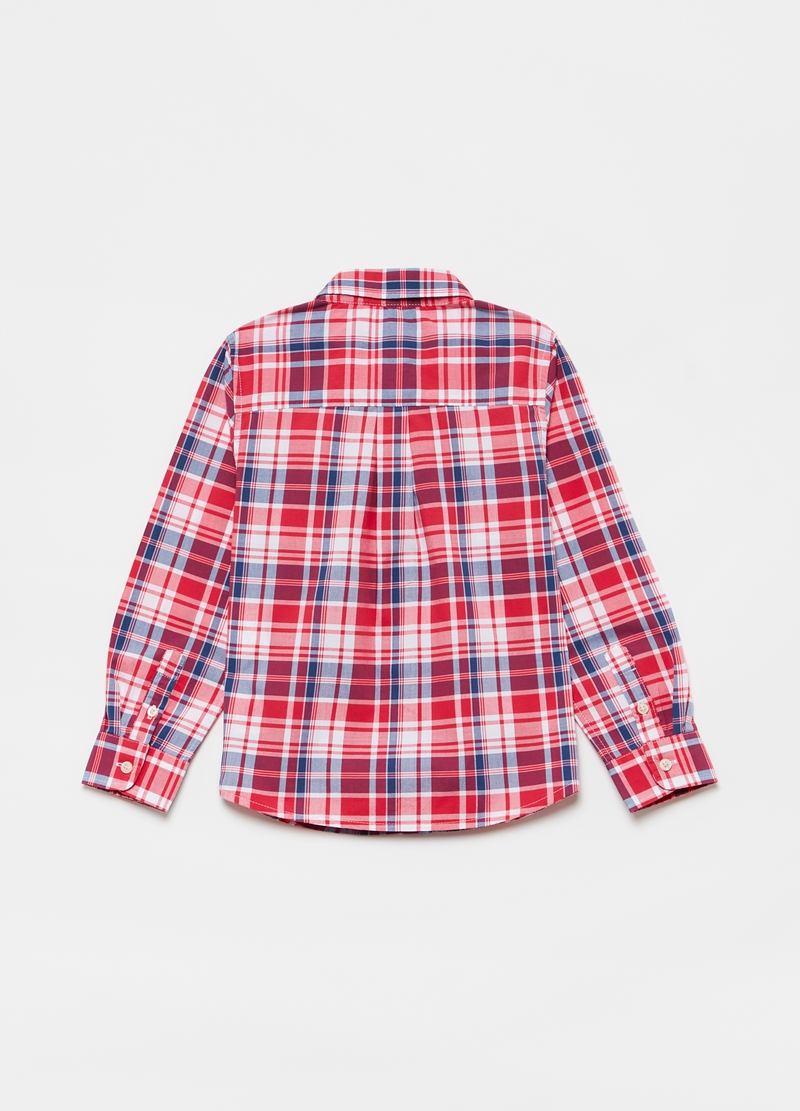 Check shirt with button down collar image number null