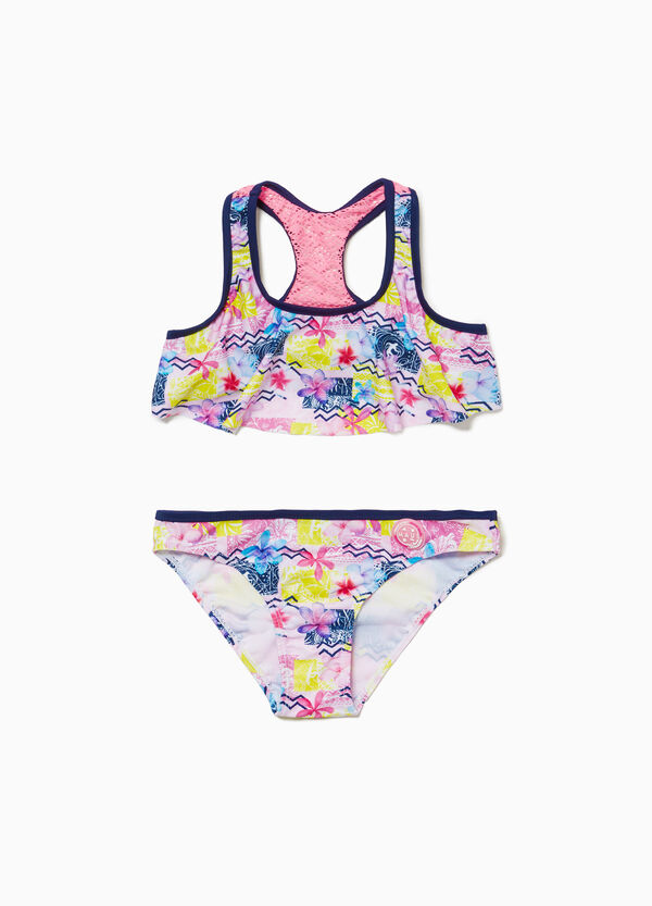 Stretch bikini with ethnic insert by Maui and Sons