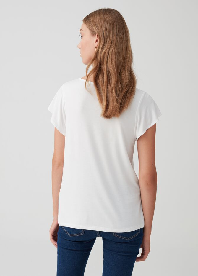 Stretch T-shirt with animal print