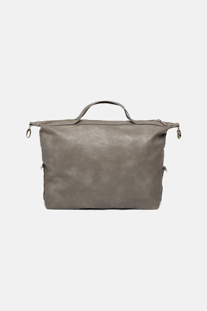 Eco-leather bag with zip
