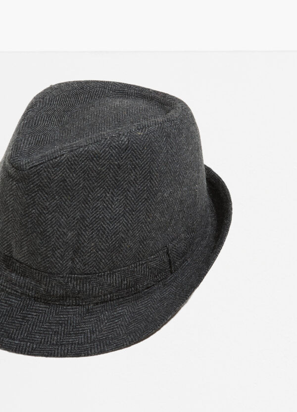 Wide brim hat with geometric weave | OVS