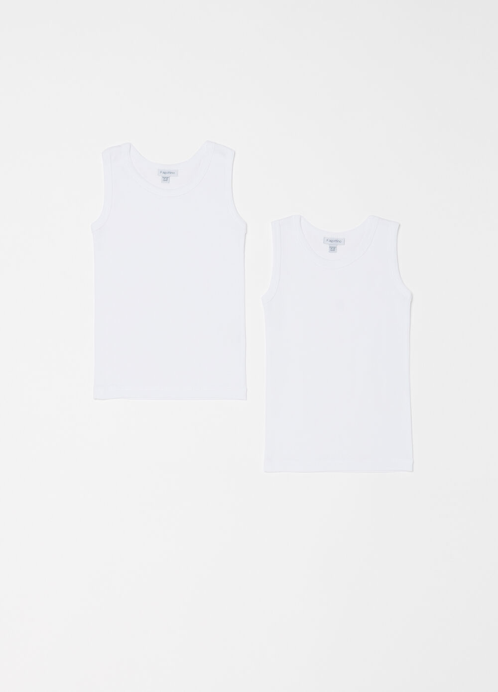 Two-pack 100% cotton vests