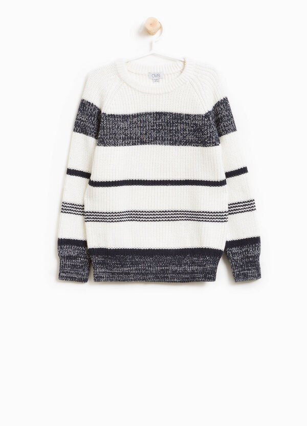 Striped pullover in 100% cotton | OVS