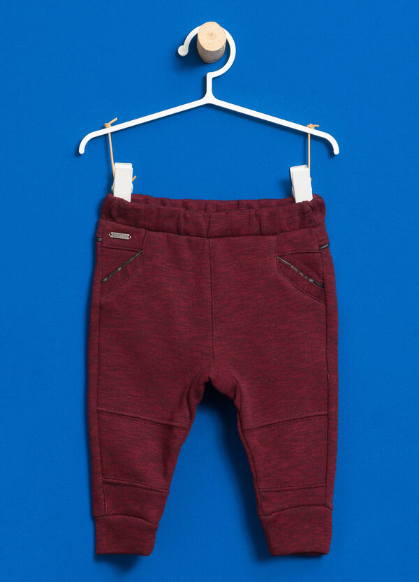 Pantaloni in cotone con patch lettering