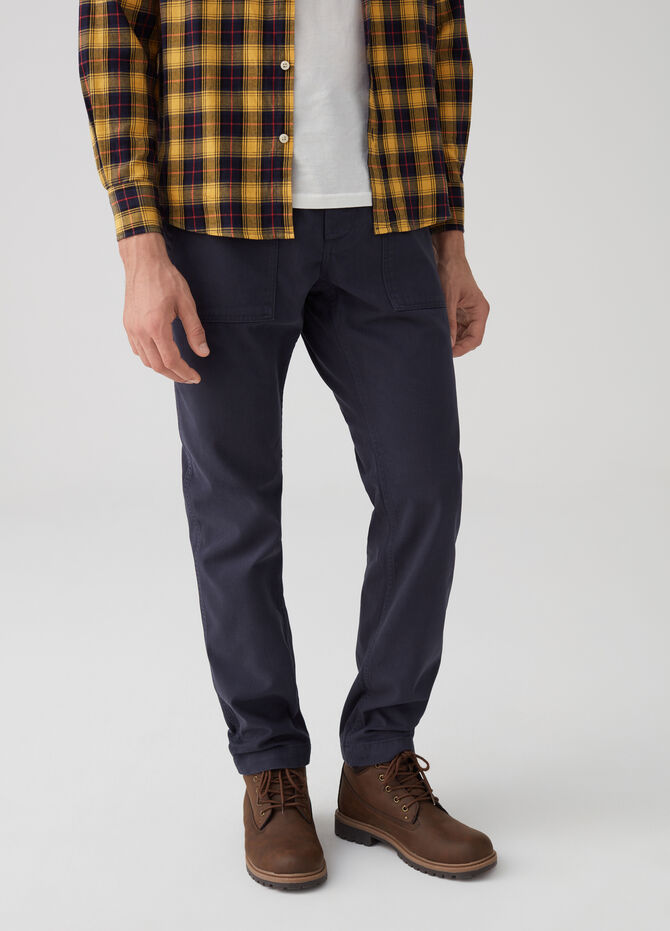 100% cotton regular-fit trousers with pockets