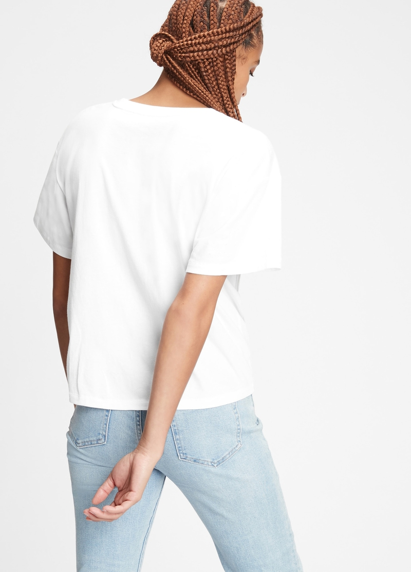 GAP oversized T-shirt with logo print image number null