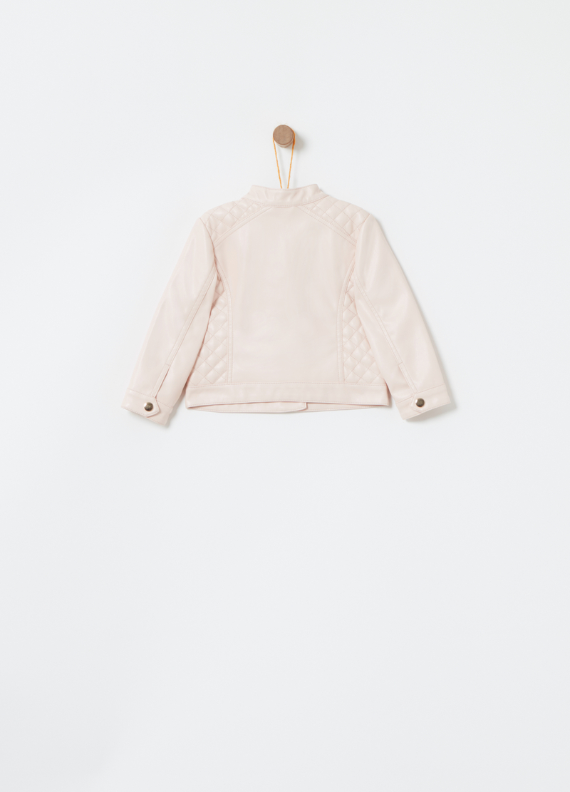 Plain leather look jacket image number null