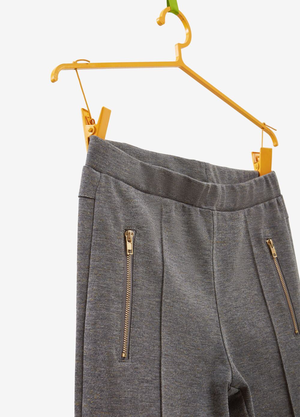 Stretch jeggings with lurex and pockets