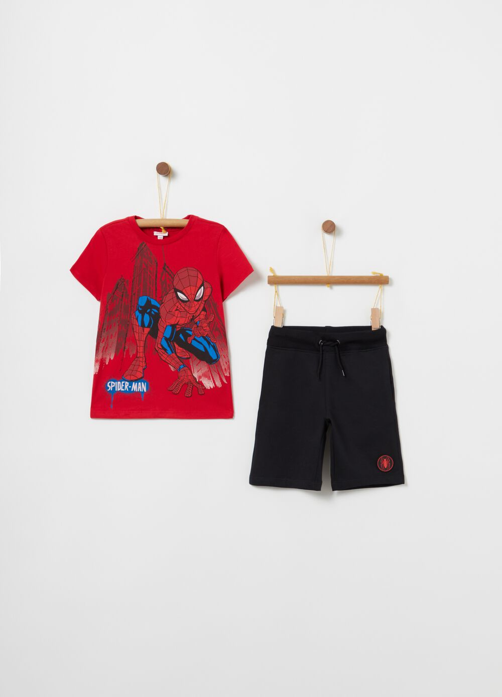 Pack jogging camiseta y shorts Spiderman