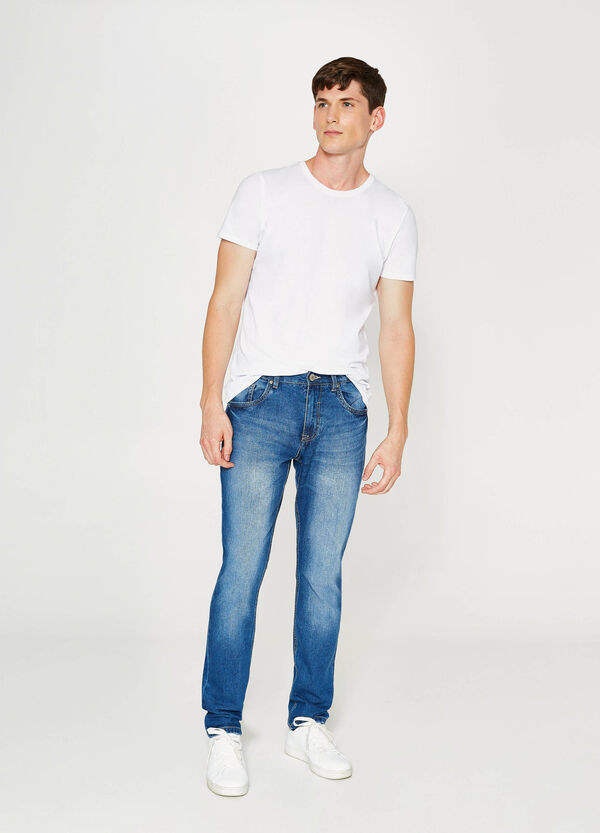 Straight-fit jeans with fading