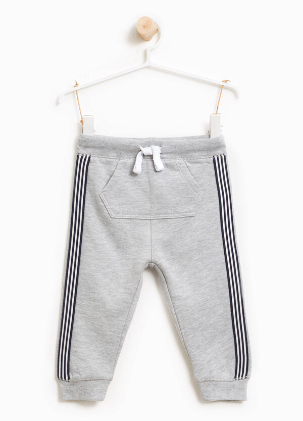 Cotton and viscose joggers with bands | OVS