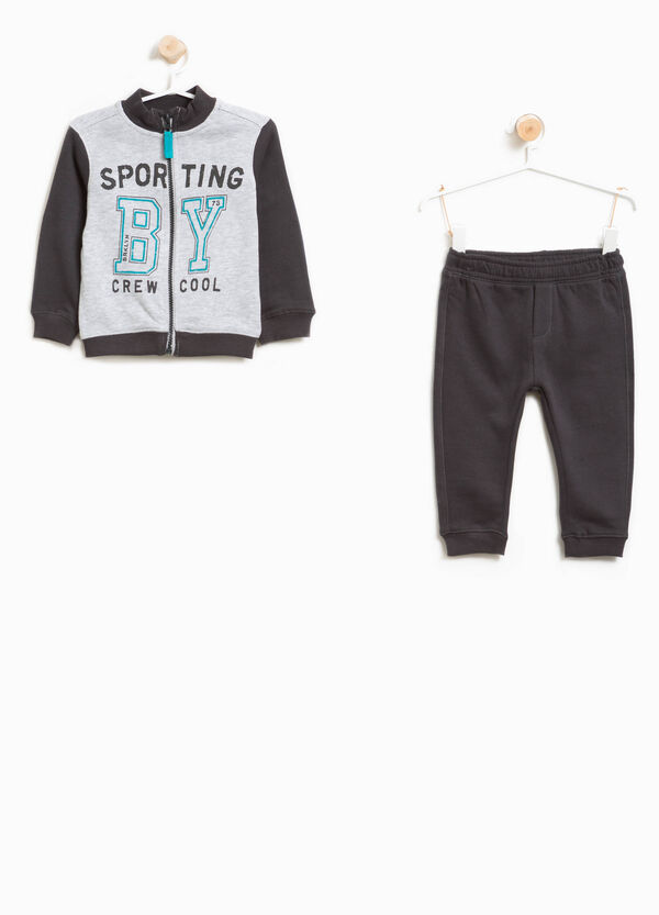 100% cotton tracksuit with lettering print