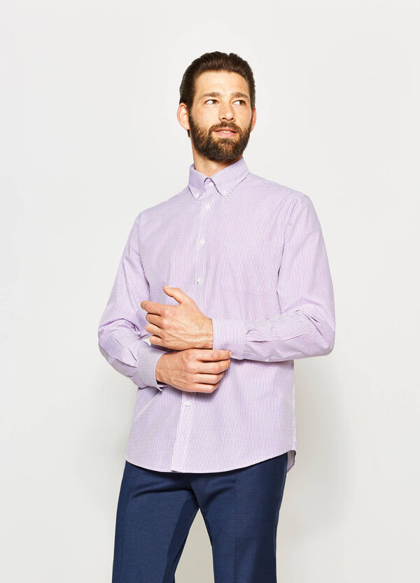 Regular-fit formal striped shirt | OVS