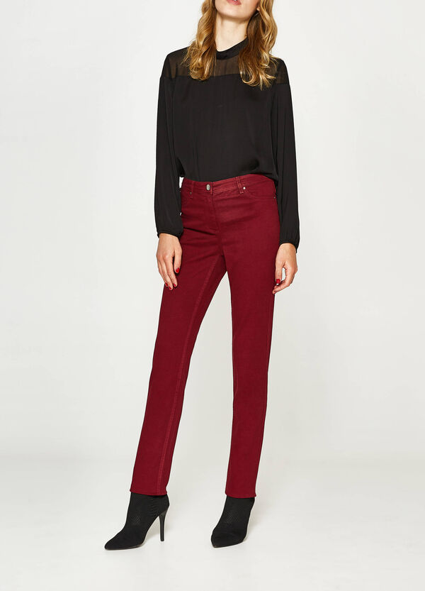 Solid colour, slim-fit stretch jeans | OVS