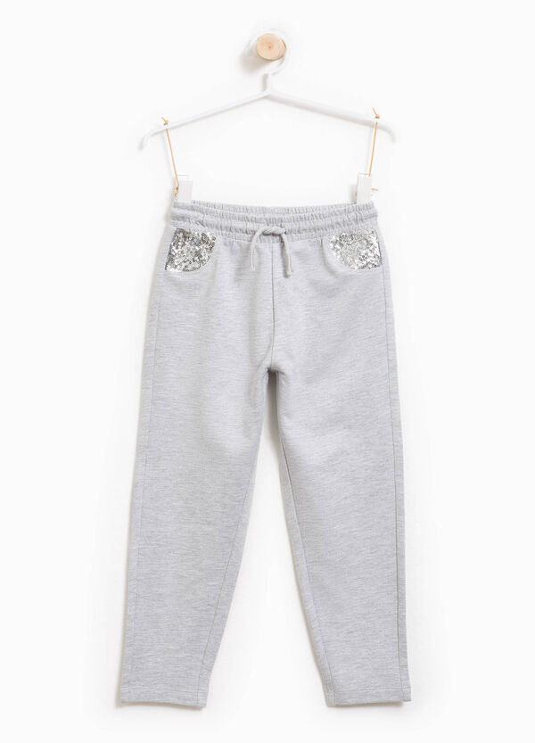 Mélange joggers with sequins | OVS