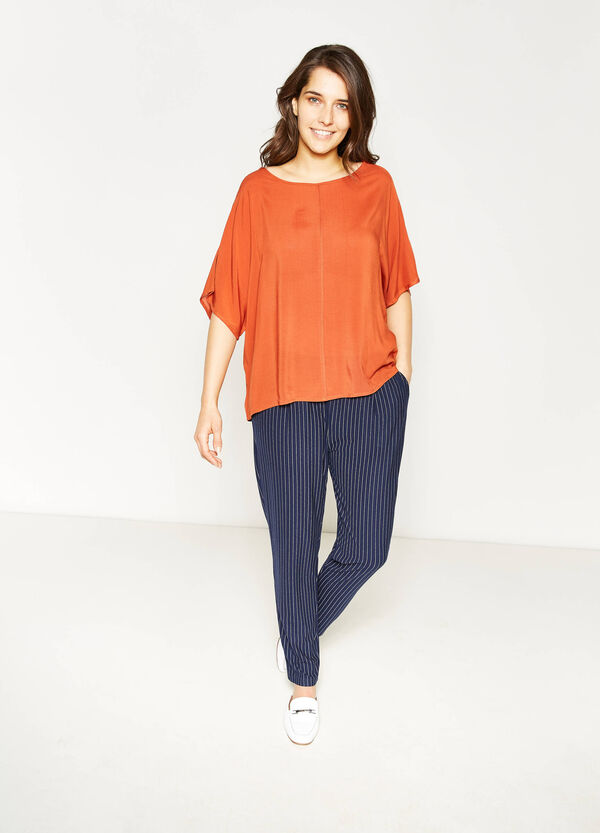 Curvy blouse with elbow-length sleeves   OVS