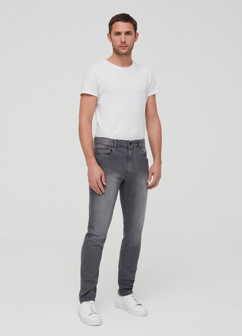 Faded-effect skinny-fit jeans