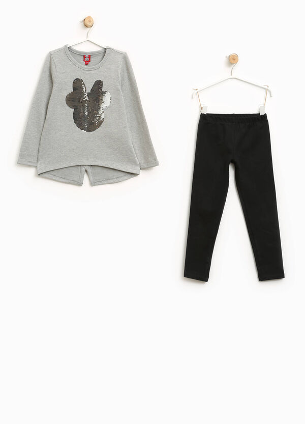 Stretch tracksuit with Minnie Mouse sequins | OVS