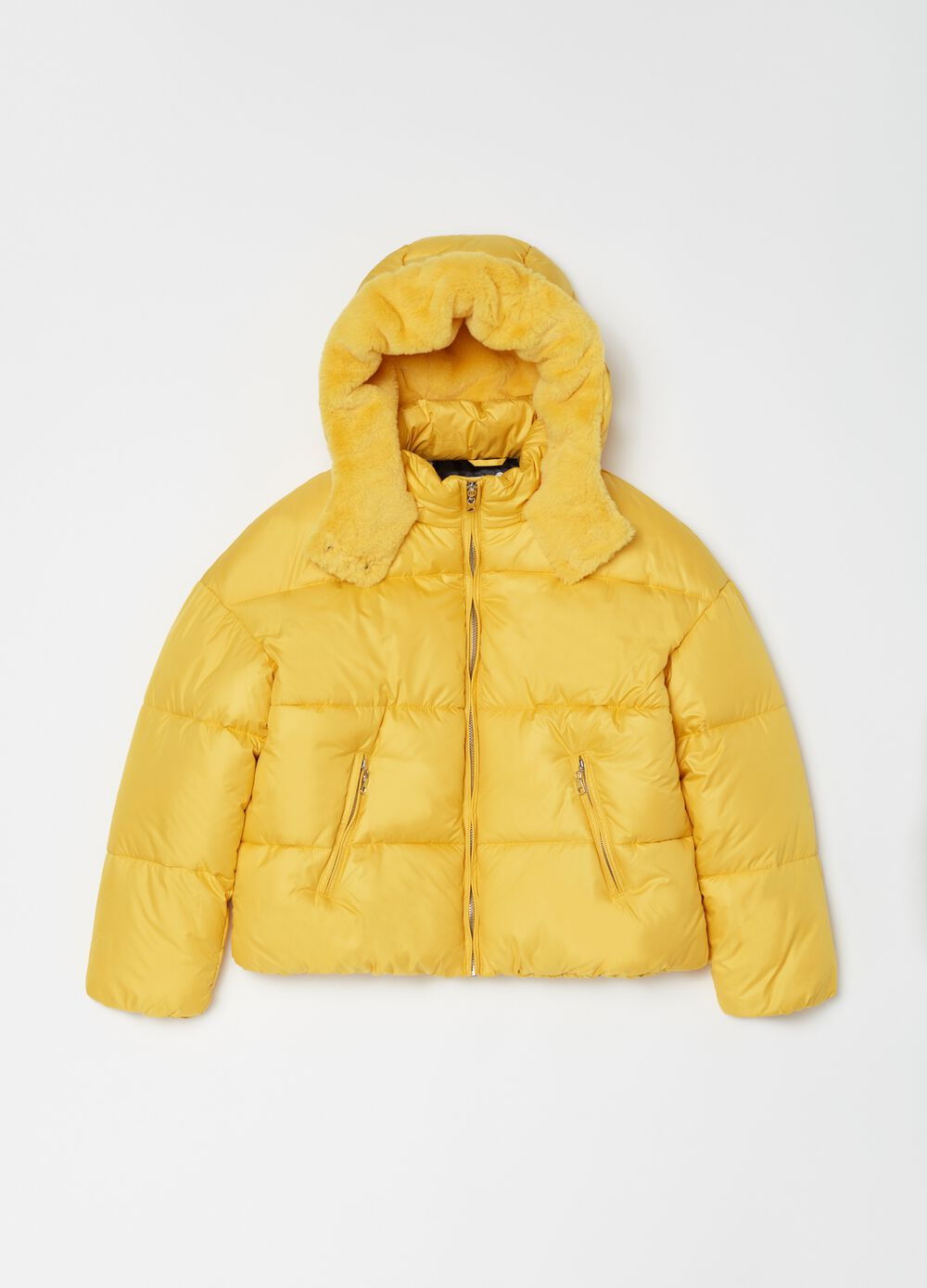 Padded and quilted full-zip jacket