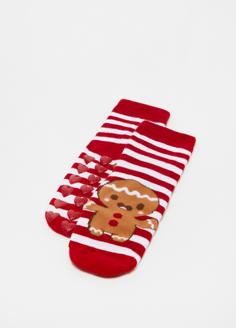 Slipper socks box with gingerbread image number null
