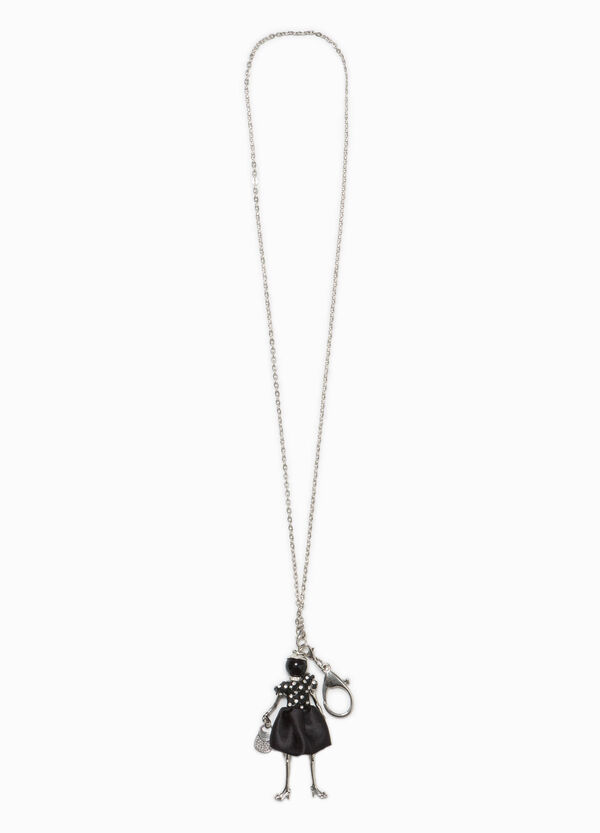 Iron necklace with small doll pendant | OVS
