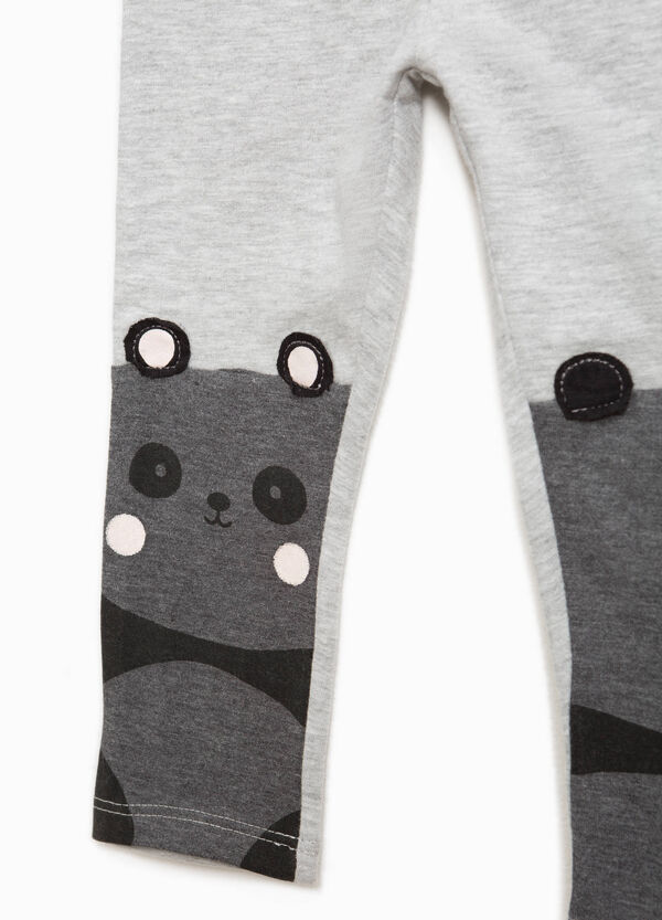 Cotton leggings with panda print | OVS